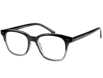Clark (Black) Retro Reading Glasses - Thumbnail Product Image