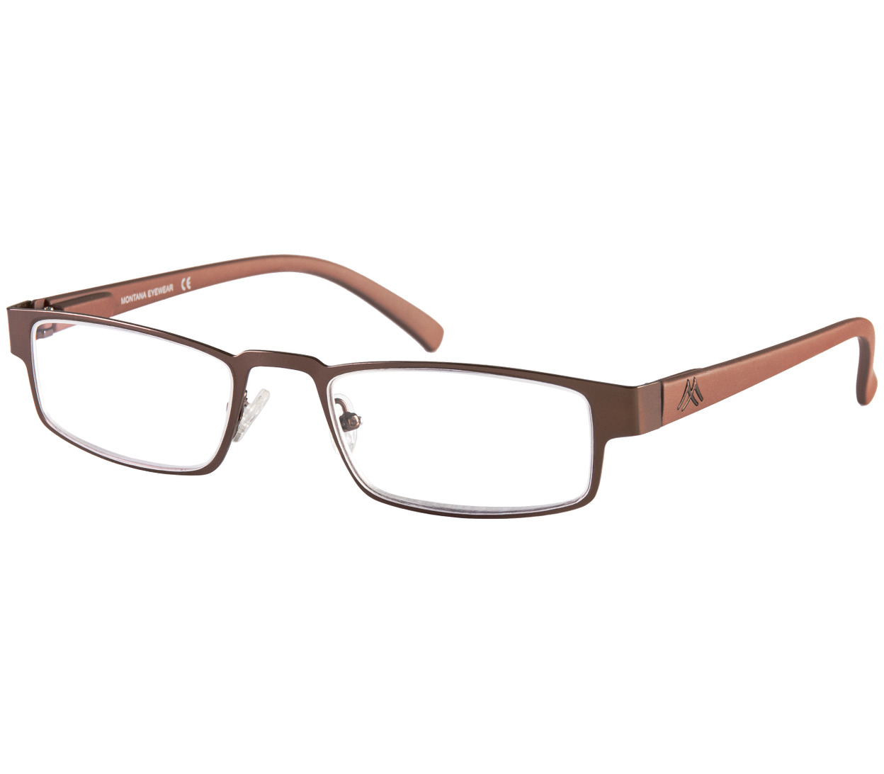 Main Image (Angle) - Melbourn (Brown) Classic Reading Glasses