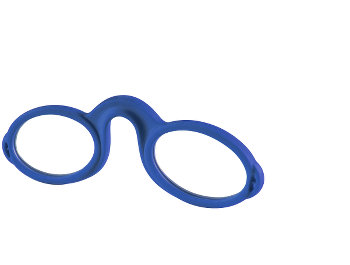 Micro (Blue) Pince Nez Reading Glasses