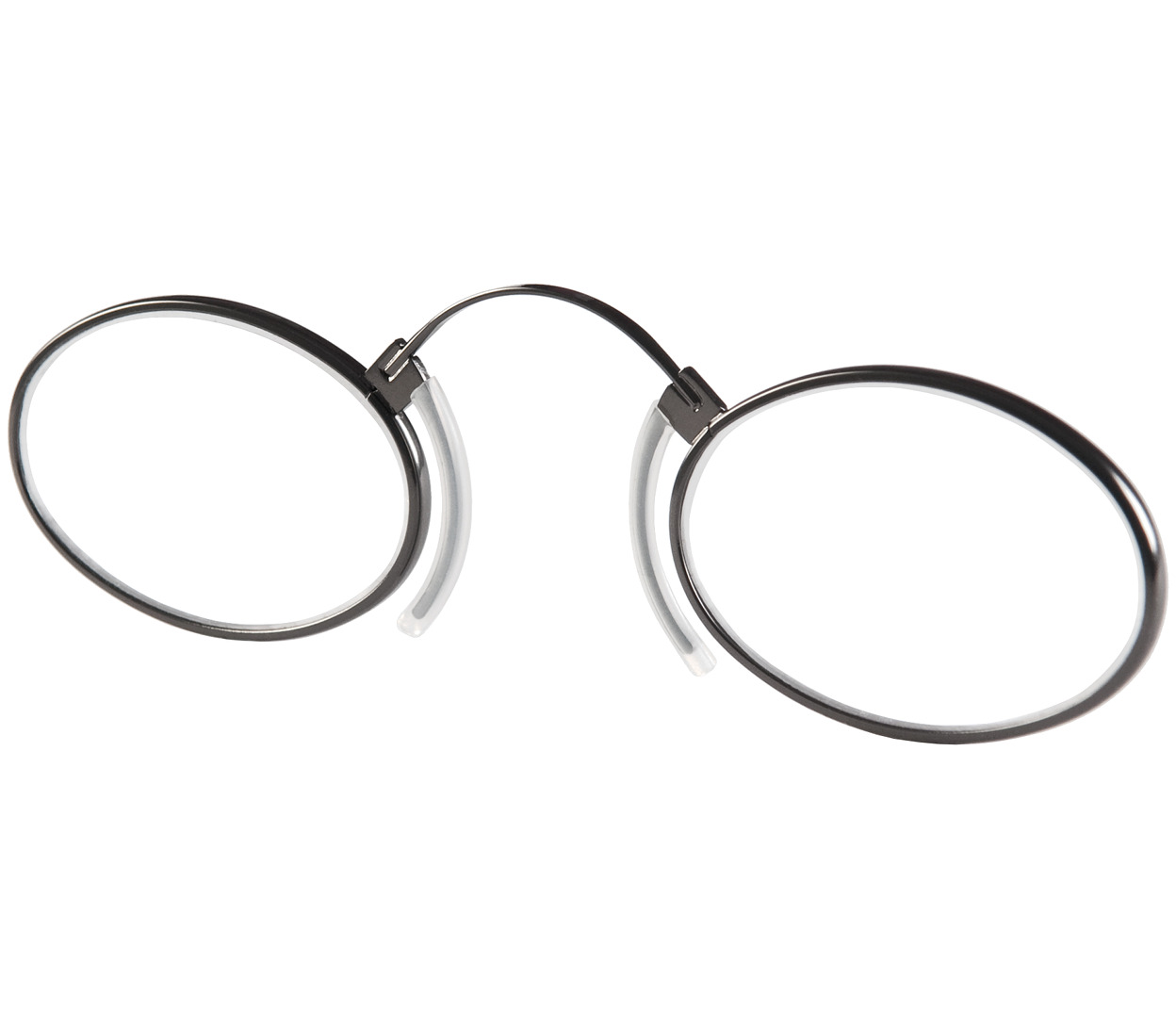 Main Image (Angle) - Clipper (Gunmetal) Pince Nez Reading Glasses