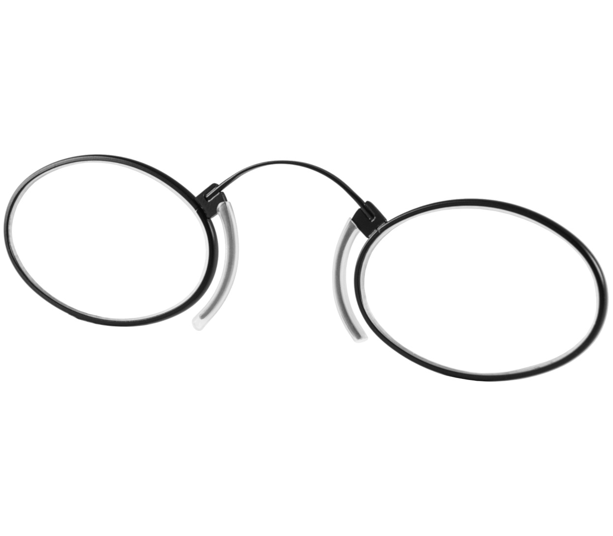 Clipper (Black) Pince Nez Reading Glasses