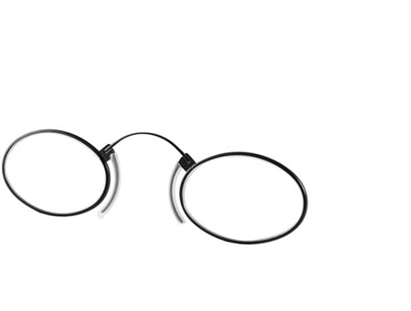 Clipper (Black) Pince Nez Reading Glasses - Thumbnail Product Image