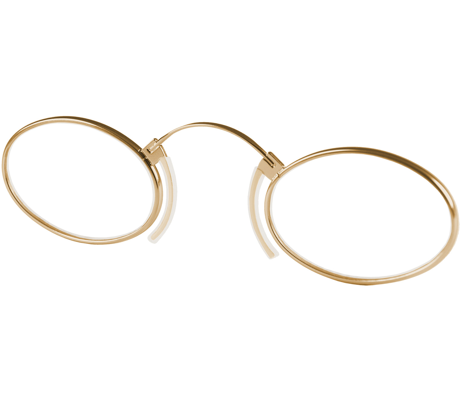 Main Image (Angle) - Clipper (Gold) Pince Nez Reading Glasses