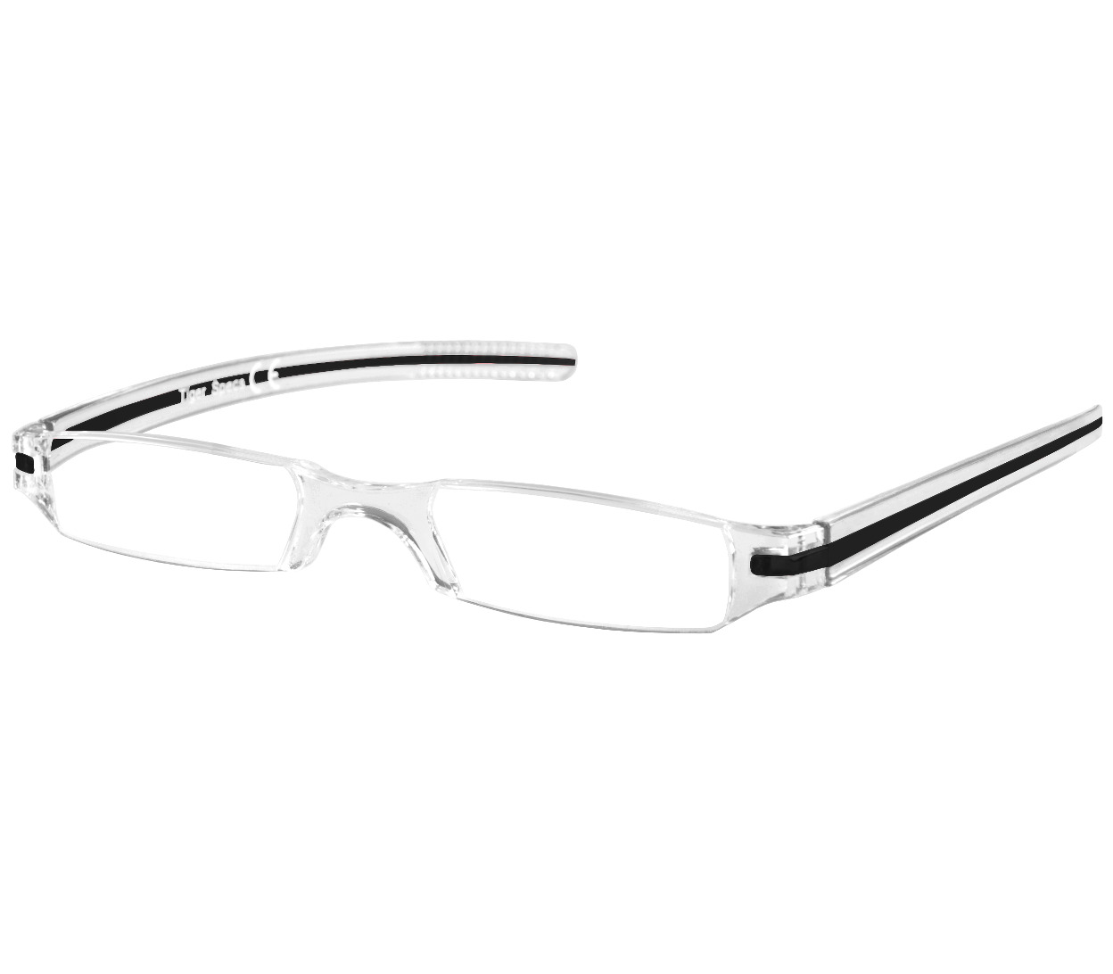 Main Image (Angle) - Soda (Black) Tube Reading Glasses