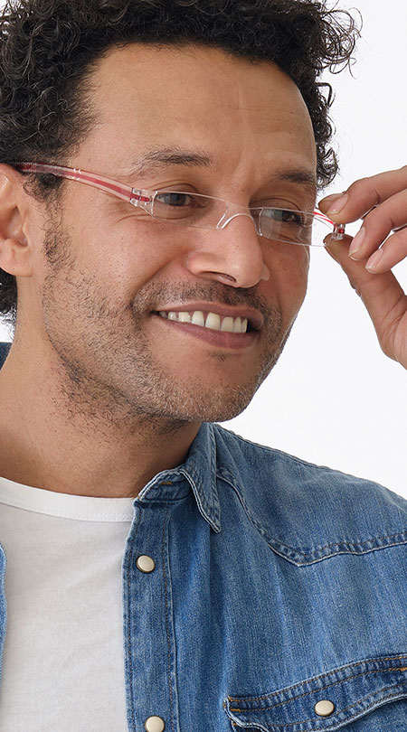 Soda (Red) Tube Reading Glasses - Thumbnail Model Image