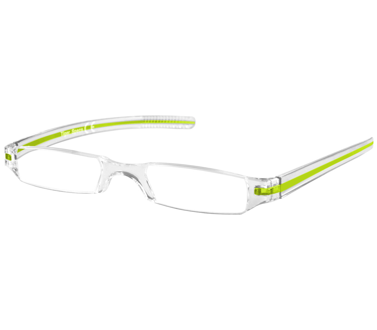 Main Image (Angle) - Soda (Green) Tube Reading Glasses