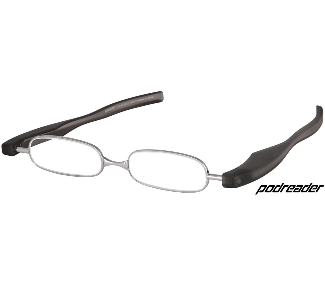 Main Image (Angle) - Podreader (Black) Folding Reading Glasses