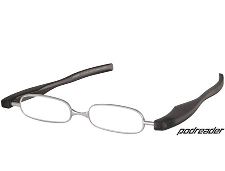Podreader (Black) Folding Reading Glasses - Thumbnail Product Image