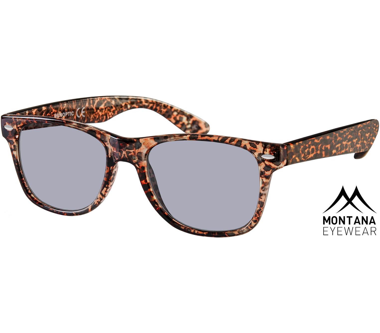 Main Image (Angle) - Miami (Leopard) Wayfarer Sunglasses
