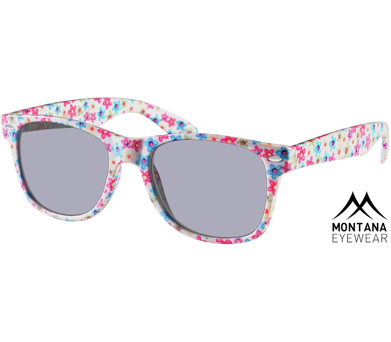 Main Image (Angle) - Miami (Floral) Wayfarer Sunglasses