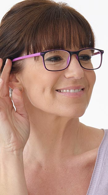 Jazz (Pink) Classic Reading Glasses - Thumbnail Model Image