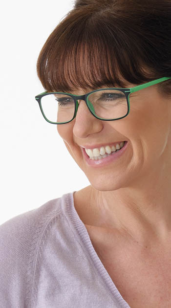 Jazz (Green) Classic Reading Glasses - Thumbnail Model Image
