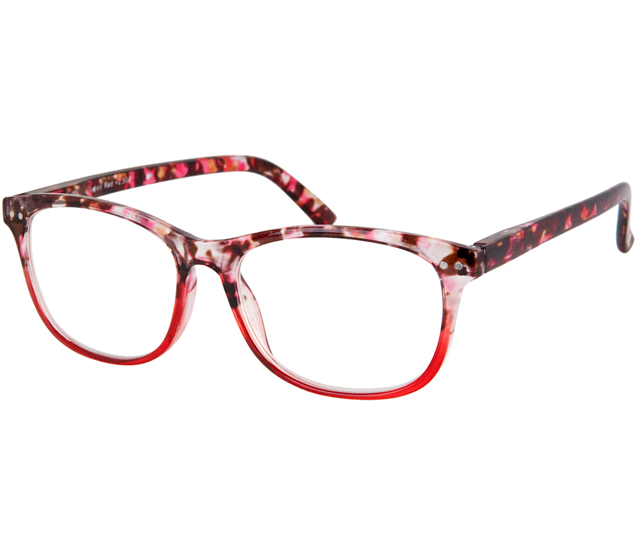 Main Image (Angle) - Aspen (Red) Reading Glasses
