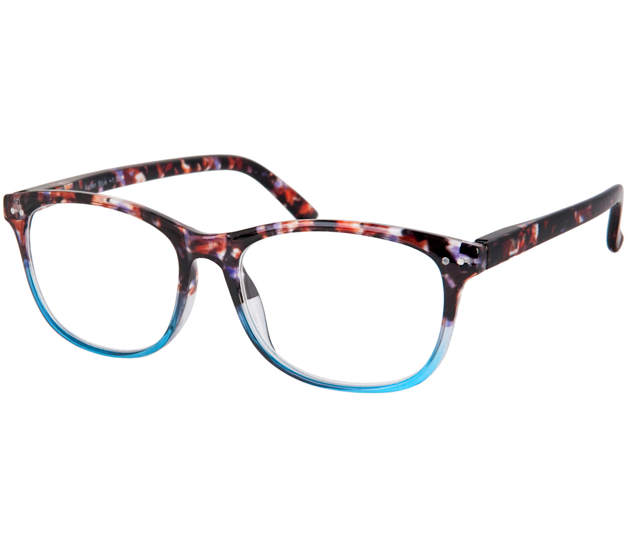 Main Image (Angle) - Aspen (Blue) Fashion Reading Glasses