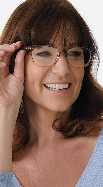 Aspen (Brown) Fashion Reading Glasses - Thumbnail Model Image