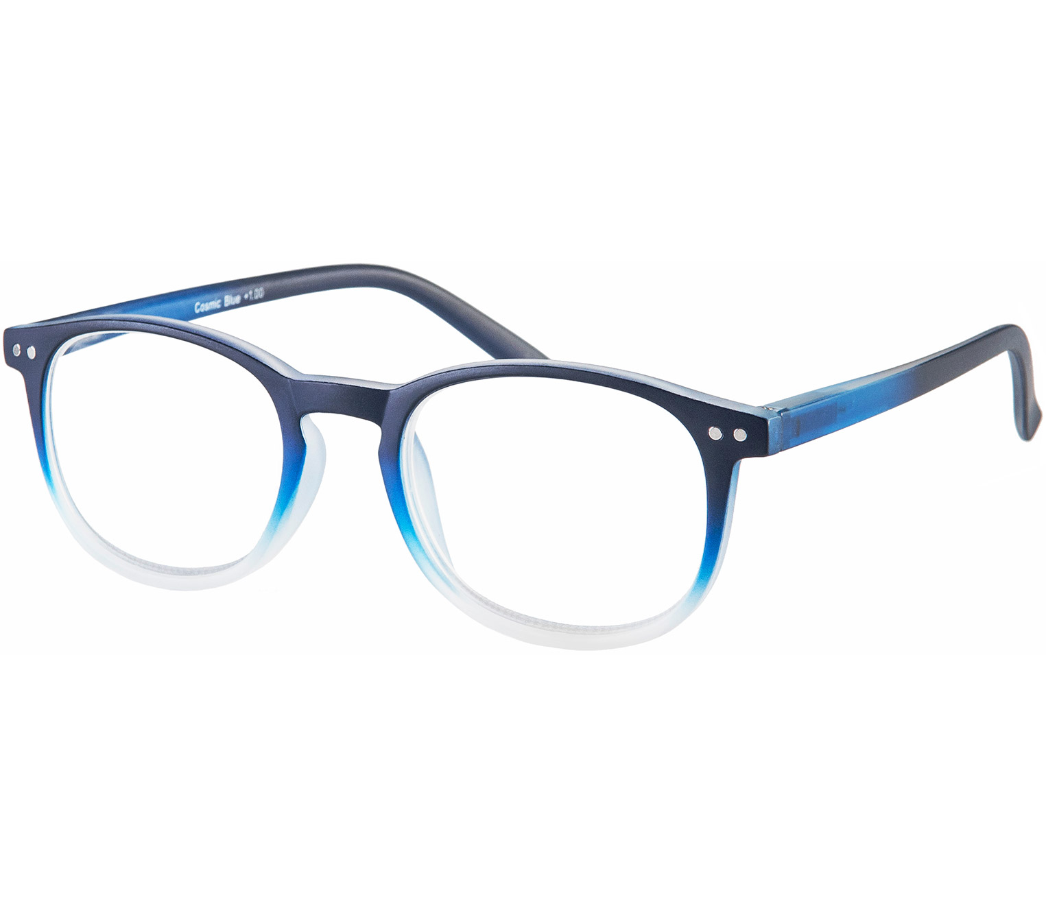 Main Image (Angle) - Cosmic (Blue) Retro Reading Glasses
