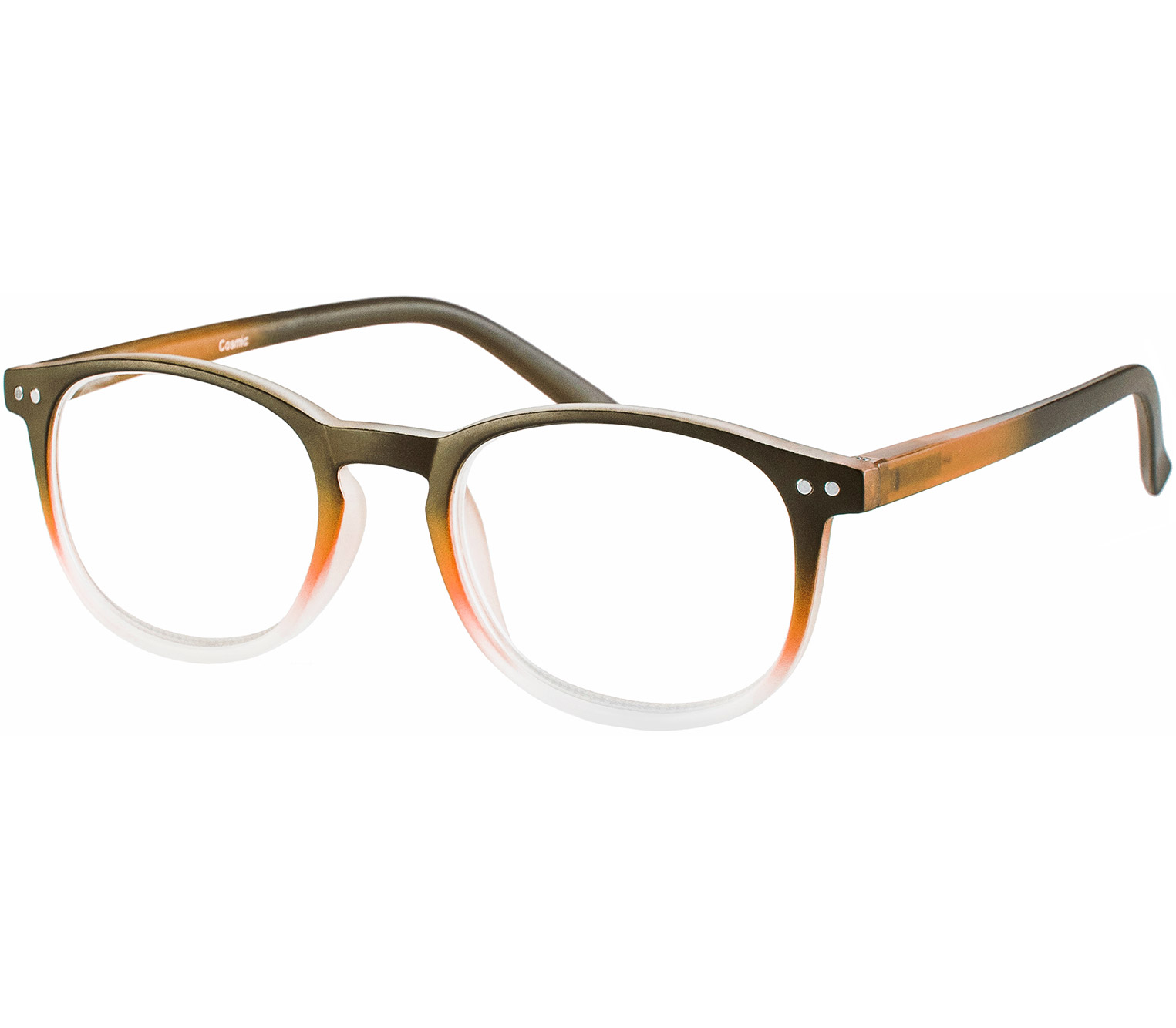 Main Image (Angle) - Cosmic (Orange) Retro Reading Glasses