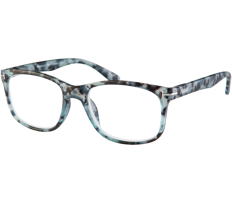Main Image (Angle) - Greenwich (Blue Tortoise) Classic Reading Glasses