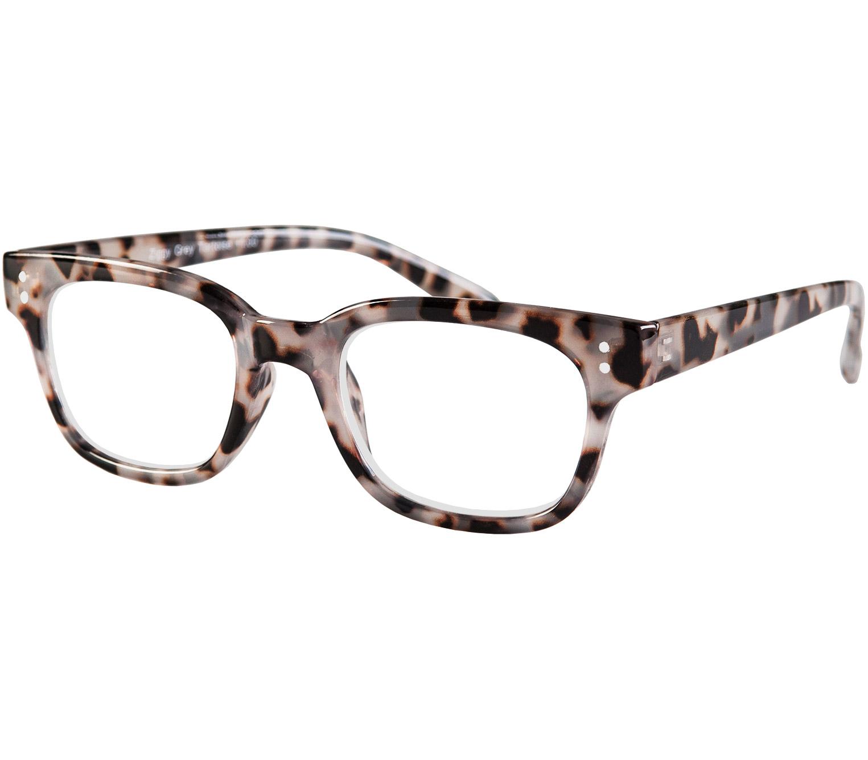 Main Image (Angle) - Ziggy (Grey Tortoise) Retro Reading Glasses