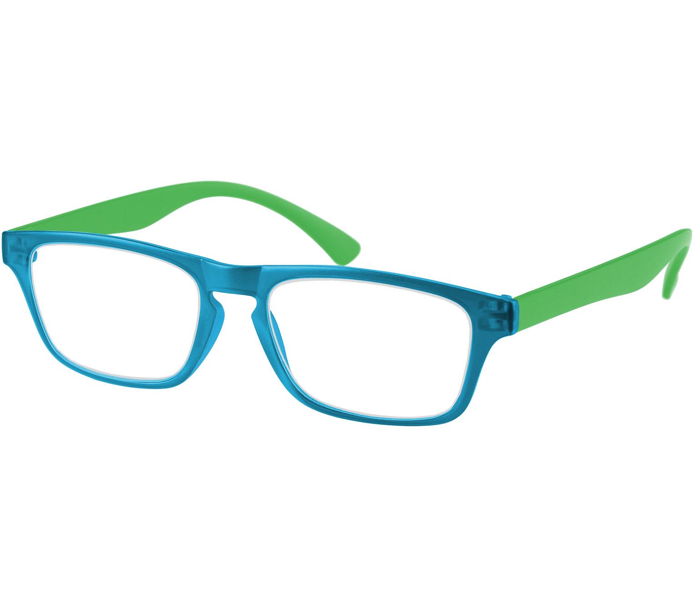 Main Image (Angle) - Metro (Blue) Classic Reading Glasses