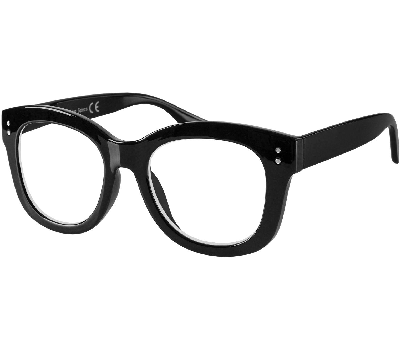 Main Image (Angle) - Paris (Black) Cat Eye Reading Glasses