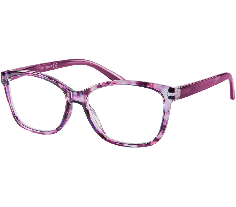 Main Image (Angle) - Courtney (Purple) Cat Eye Reading Glasses
