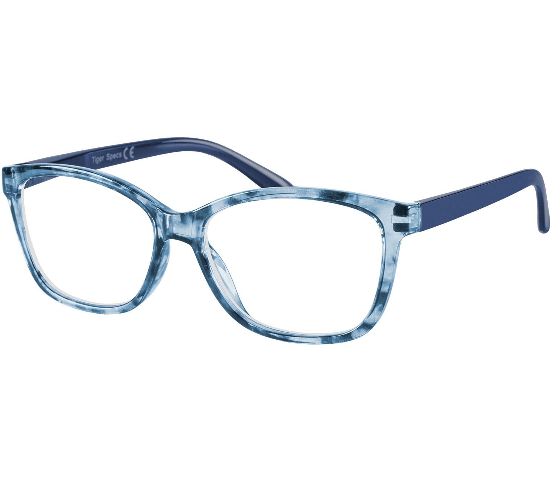 Main Image (Angle) - Courtney (Blue) Cat Eye Reading Glasses