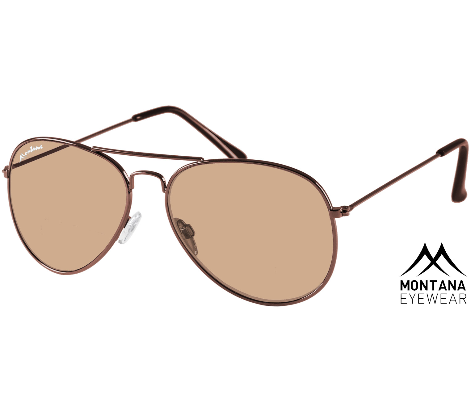 Main Image (Angle) - Fiji (Brown) Aviator Sunglasses