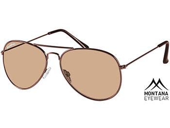 Fiji (Brown) Aviator Sunglasses