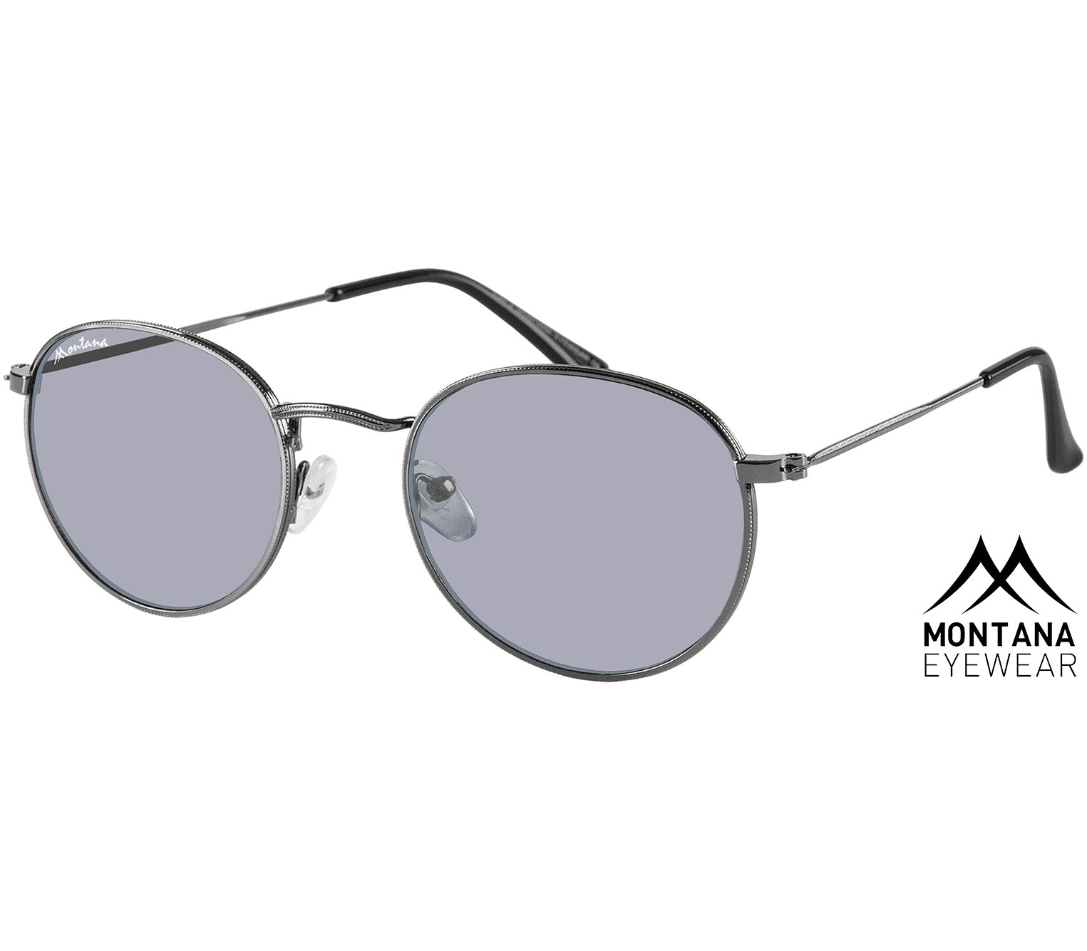 Antigua (Gunmetal) Retro Sunglasses