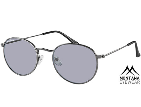 Antigua (Gunmetal) Retro Sunglasses - Thumbnail Product Image