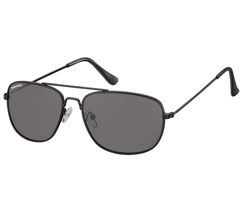 Main Image (Angle) - Corsica (Black) Aviator Sunglasses