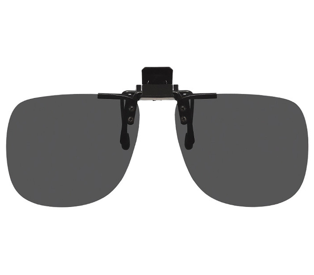 Main Image (Angle) - Shady (Black) Clip On Sunglasses