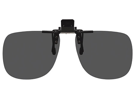 Shady (Black) Clip On Sunglasses - Thumbnail Product Image