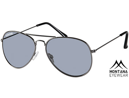Uber (Gunmetal) Aviator Sunglasses - Thumbnail Product Image