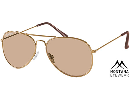 Uber (Gold) Aviator Sunglasses - Thumbnail Product Image