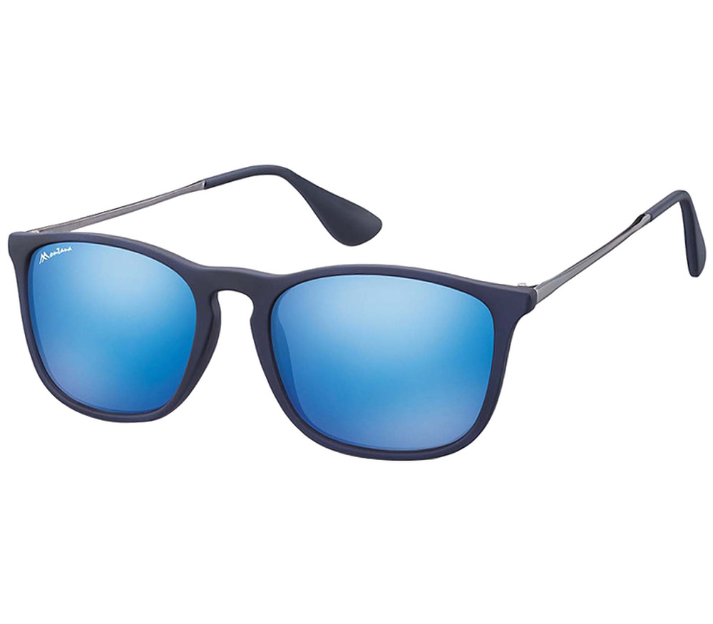 Main Image (Angle) - Motto (Blue) Retro Sunglasses