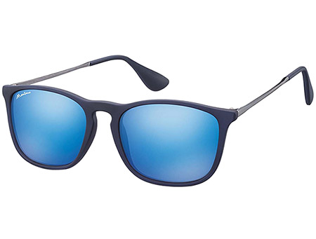Motto (Blue) Retro Sunglasses - Thumbnail Product Image