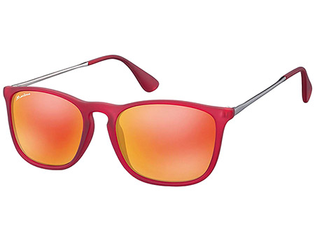 Motto (Red) Retro Sunglasses - Thumbnail Product Image