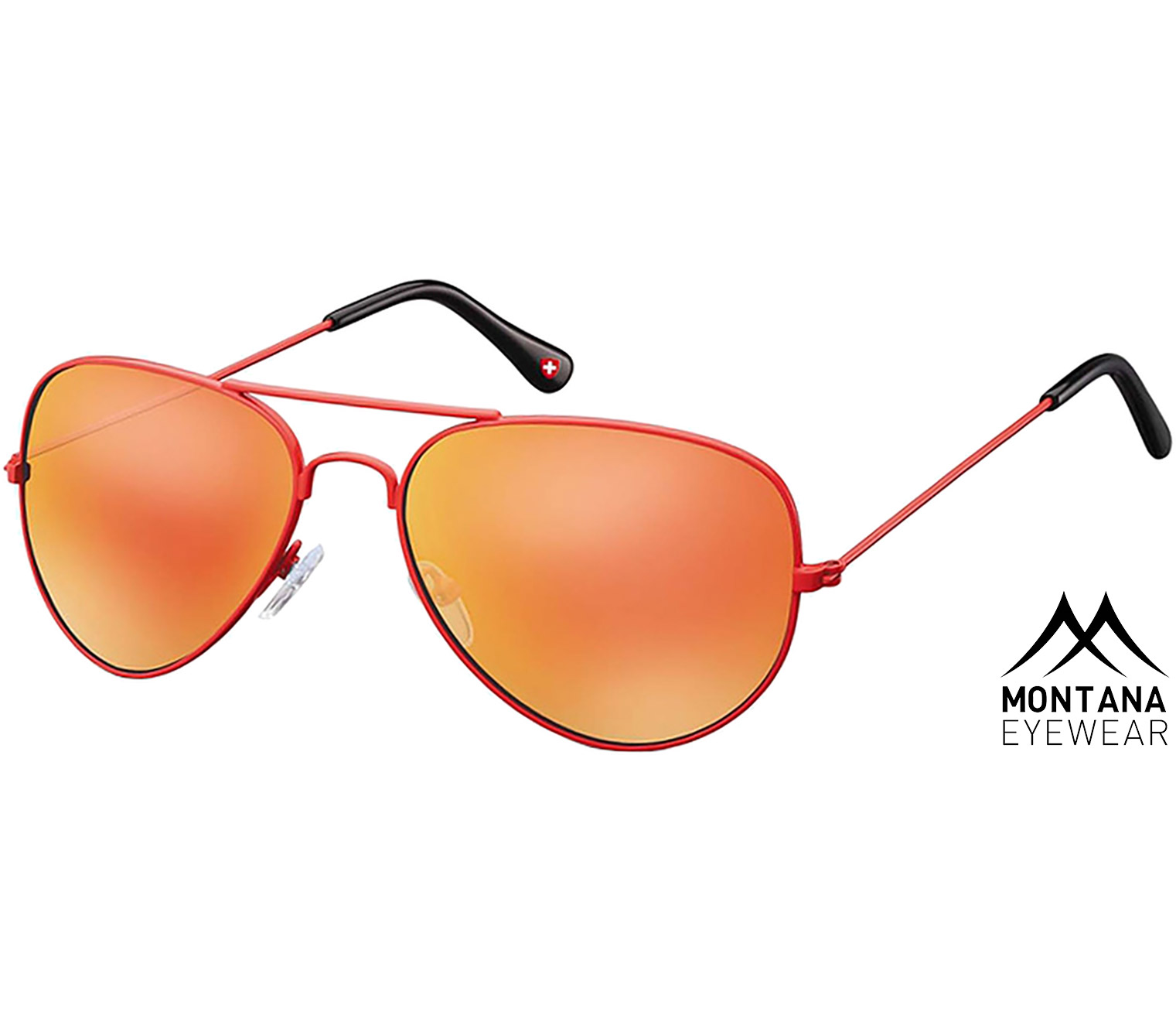Main Image (Angle) - Island (Red) Aviator Sunglasses