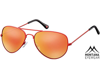 Island (Red) Aviator Sunglasses - Thumbnail Product Image