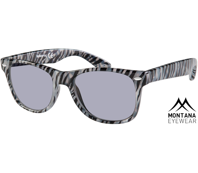 Main Image (Angle) - Miami (Zebra) Wayfarer Sunglasses