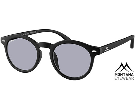 Drift (Black) Retro Sunglasses - Thumbnail Product Image