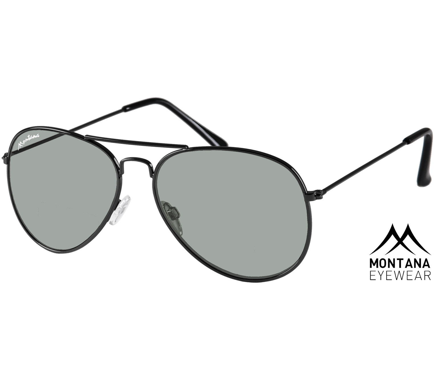 Main Image (Angle) - Fiji (Black) Aviator Sunglasses