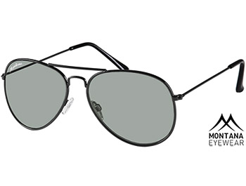 Fiji (Black) Aviator Sunglasses - Thumbnail Product Image