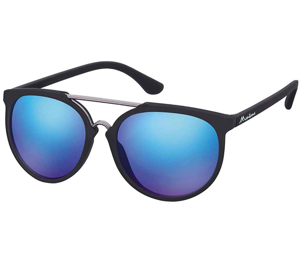 Main Image (Angle) - Java (Black) Retro Sunglasses
