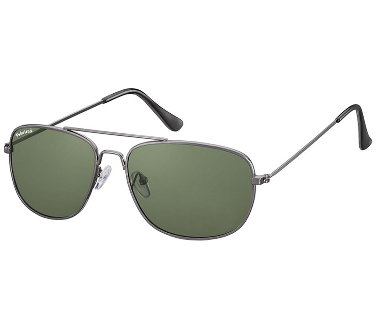 Main Image (Angle) - Savanna (Gunmetal) Aviator Sunglasses
