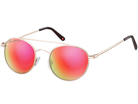 Bali (Gold) Retro Sunglasses - Thumbnail Product Image