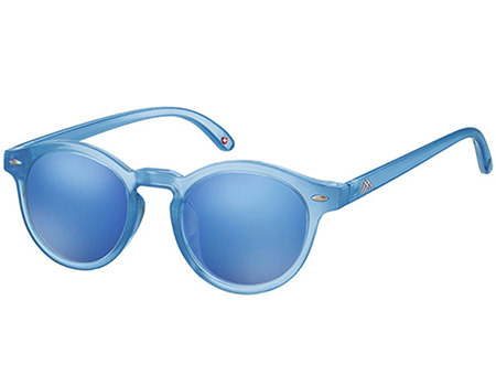 Turbo (Blue) Retro Sunglasses - Thumbnail Product Image