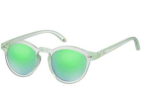 Turbo (Green) Retro Sunglasses - Thumbnail Product Image